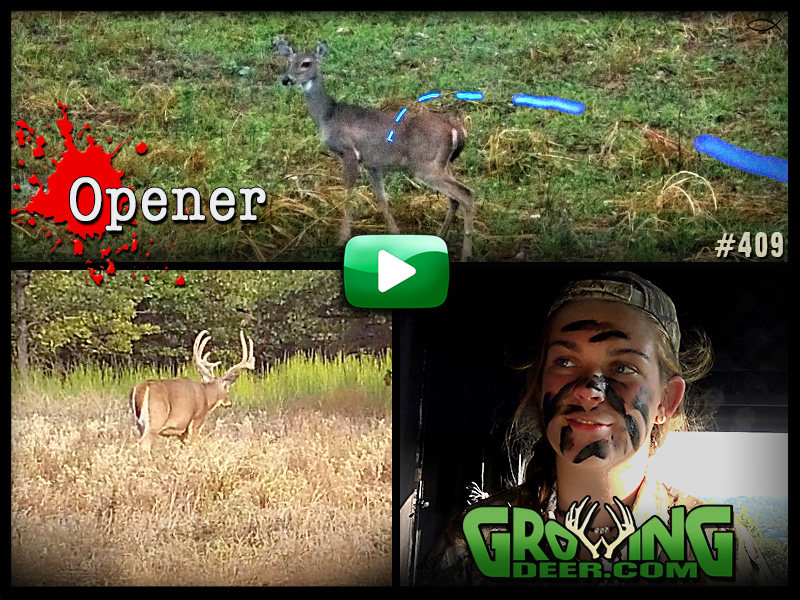Watch GrowingDeer episode 409 to see the opening weekend of deer season at The Proving Grounds.