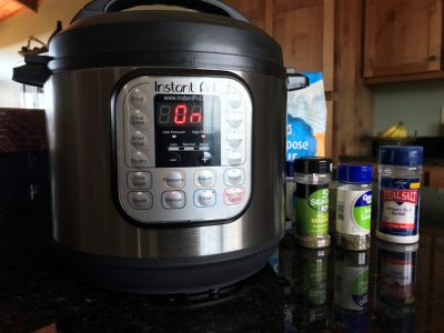 Instant Pot used for cooking venison