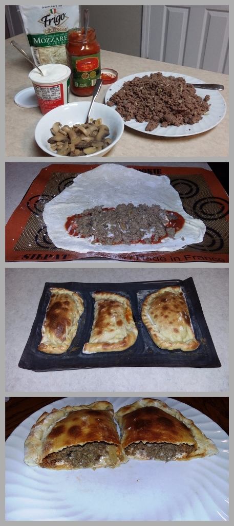 Step by step venison calzones
