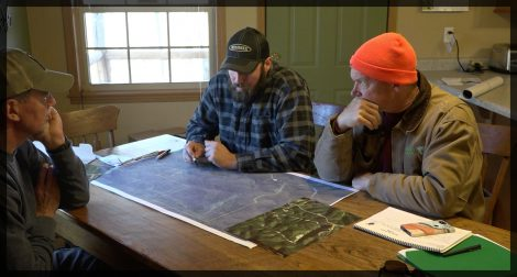 Reviewing a hunting property map