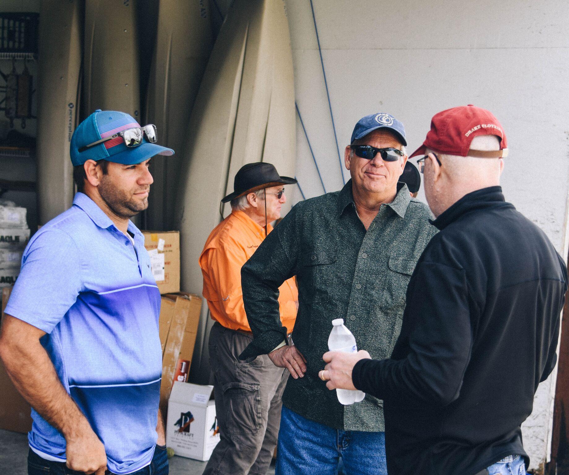 Grant talking with Texas/Oklahoma hunters