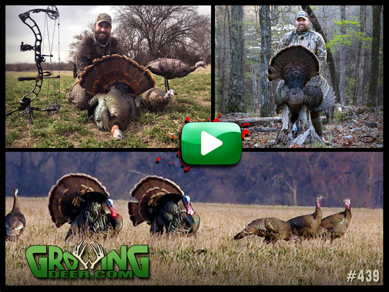 Two hunters show off their gobblers from Kansas and Arkansas