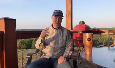 Grant hosts a GrowingDeer Talks from his back deck