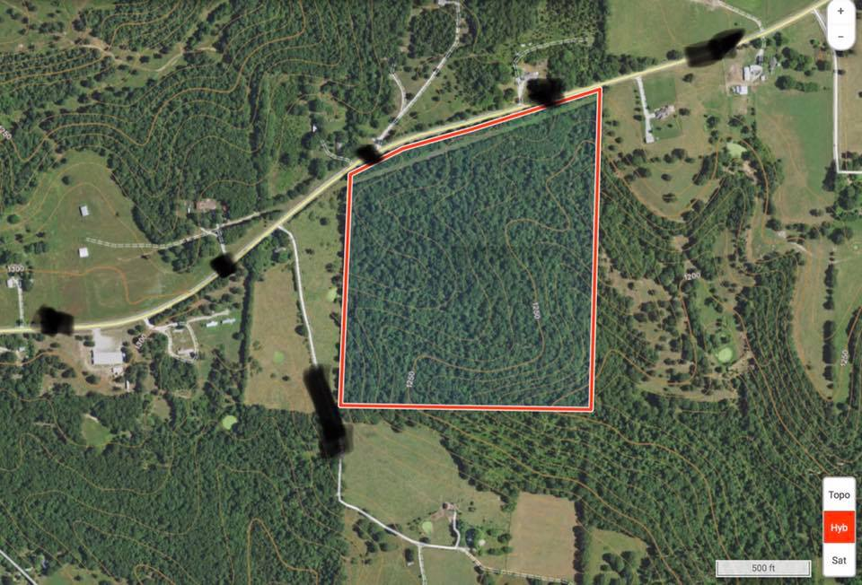 This 50 acre parcel is all hardwoods