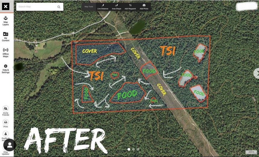a plan for hunting 120 acres