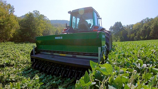 Planting food plots for whitetails using the No-till